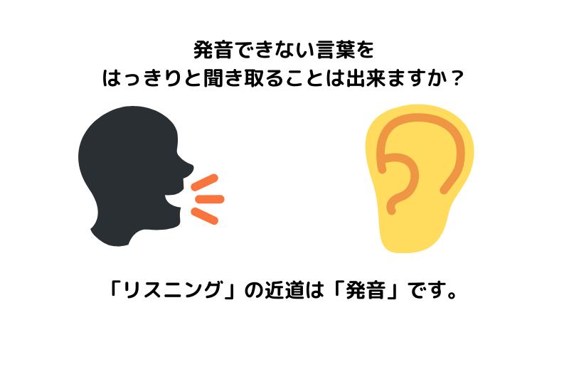 発音できない言葉をはっきりと聞き取ることは出来ますか?リスニングの近道は発音です。