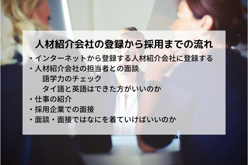 【タイ・バンコク】人材紹介会社の登録から採用まで